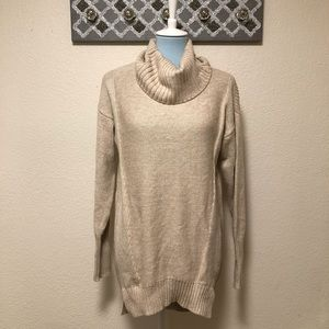 Halston Chunky Knit Sweater Cowl Neck NWOT, Size S